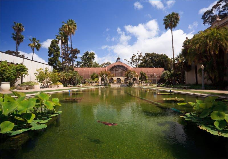 Edificio botánico en parque del balboa en San Diego imagen de archivo