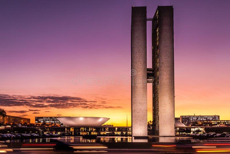 Edificio brasileño del congreso nacional fotografía de archivo