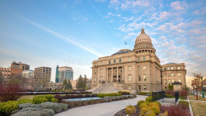Edificio capital de Idaho con las nubes de la mañana fotos de archivo libres de regalías