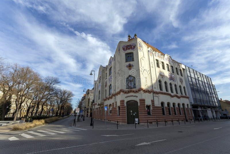 Edificio Cifrapalota en Kecskemet, Hungría imagen de archivo libre de regalías