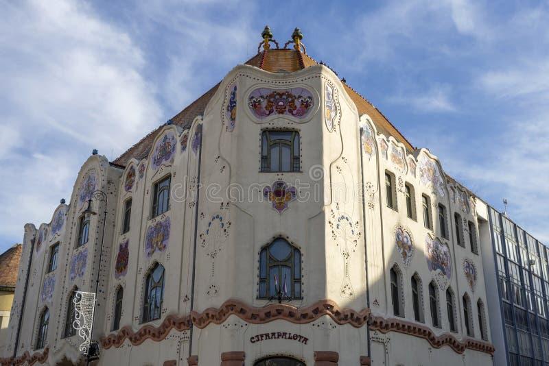 Edificio Cifrapalota en Kecskemet, Hungría fotos de archivo