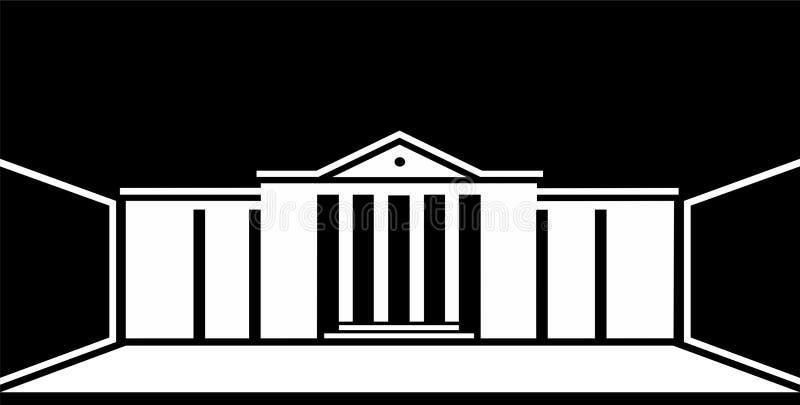 Edificio clásico del logotipo en vector libre illustration