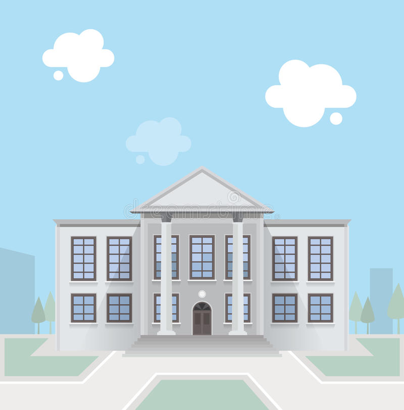 Edificio Columned ilustración del vector