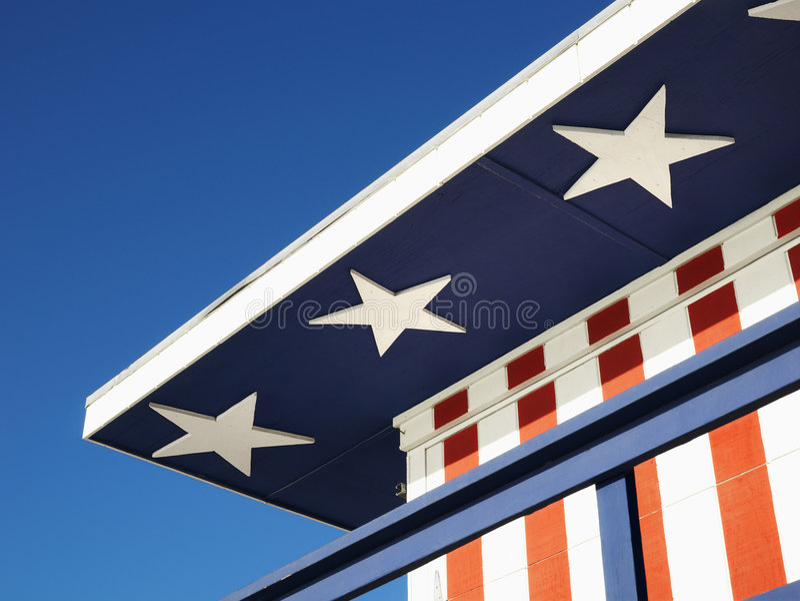 Edificio con tema patriótico fotos de archivo libres de regalías