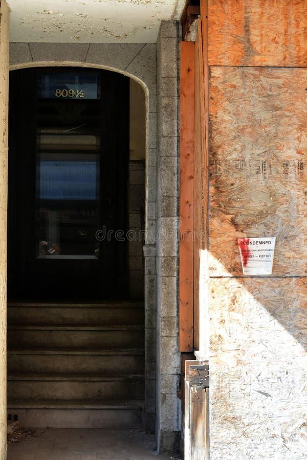 Edificio condenado fotografía de archivo