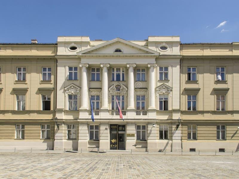 Edificio croata del parlamento foto de archivo