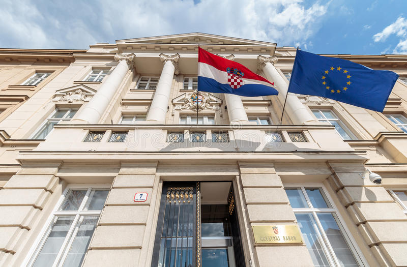 Edificio croata del parlamento imagen de archivo