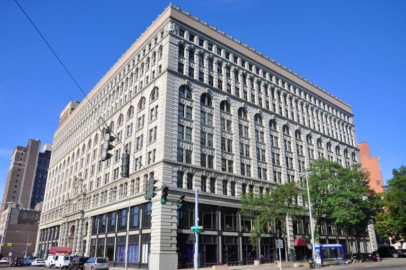 Edificio cuadrado de Ellicott, búfalo, Nueva York, los E.E.U.U. imagen de archivo