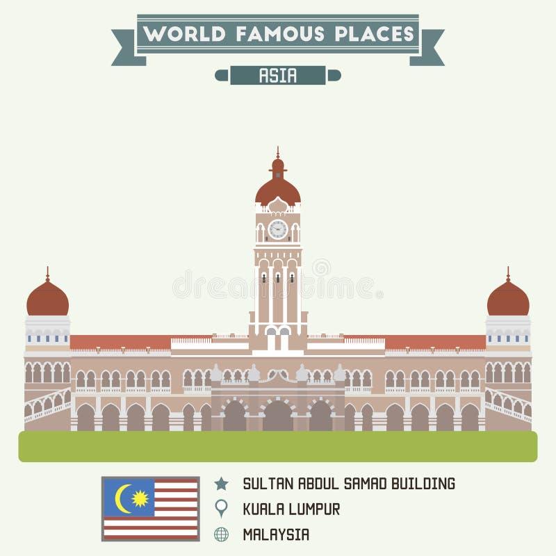 Edificio de Abdul Samad del sultán Kuala Lumpur ilustración del vector