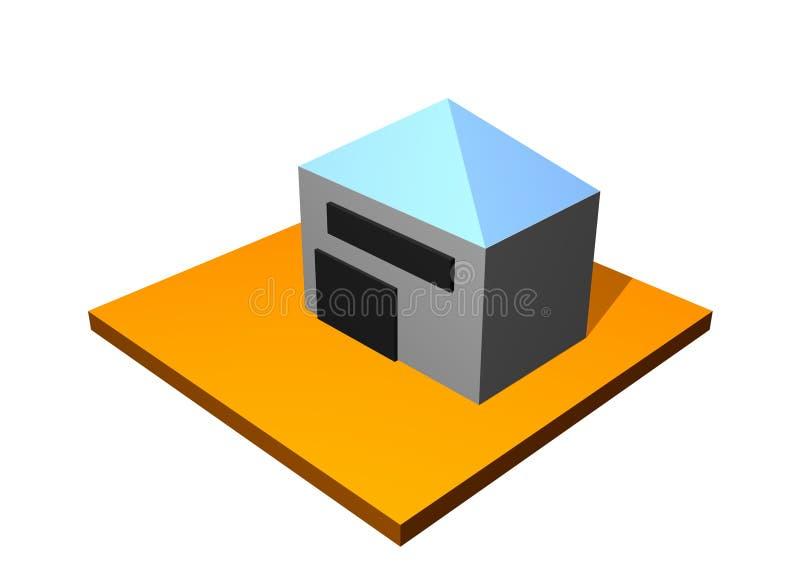 Edificio de almacenaje del almacén ilustración del vector