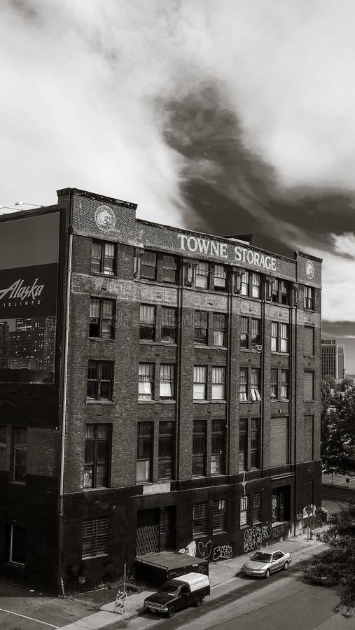 Edificio de almacenamiento de Towne fotografía de archivo