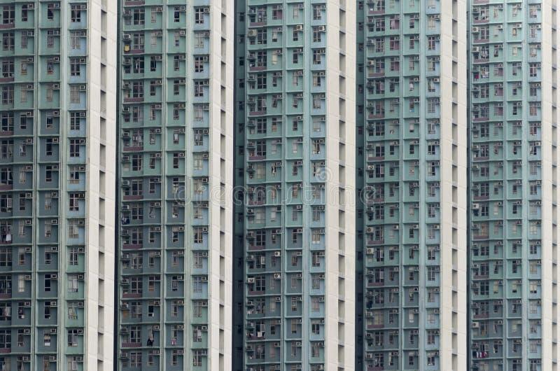 Edificio de alta densidad de la vivienda de protección oficial en Hong Kong fotografía de archivo libre de regalías