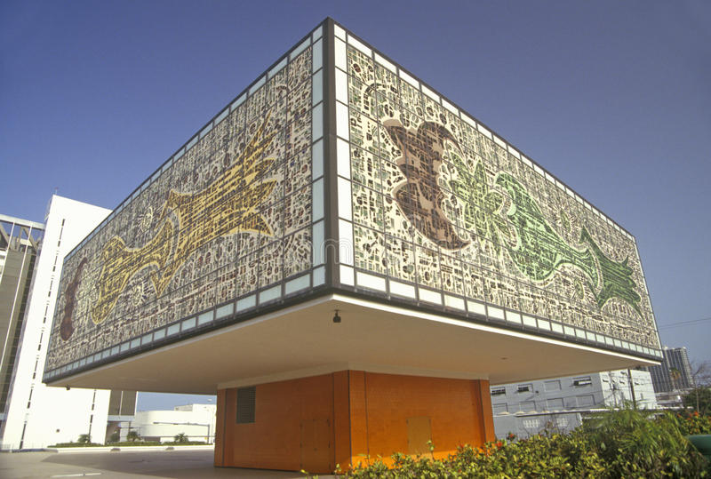 Edificio de Bacardi, Miami, la Florida imagenes de archivo