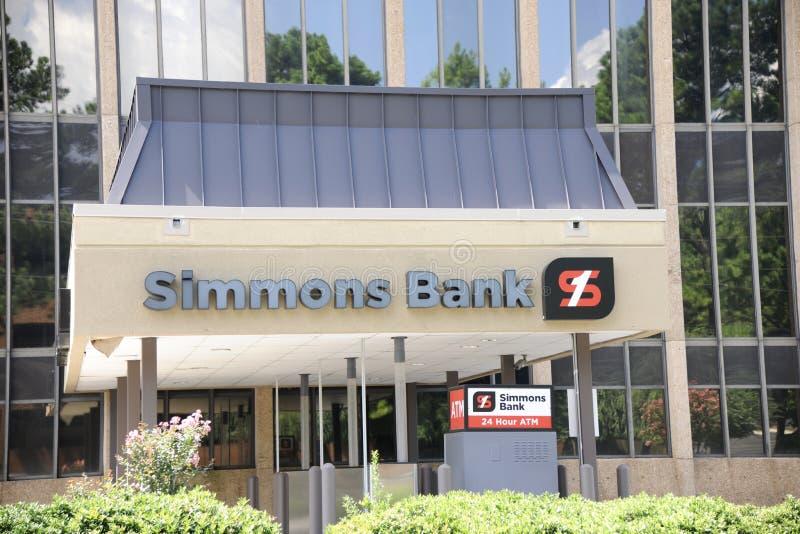 Edificio de banco de Simmons fotografía de archivo
