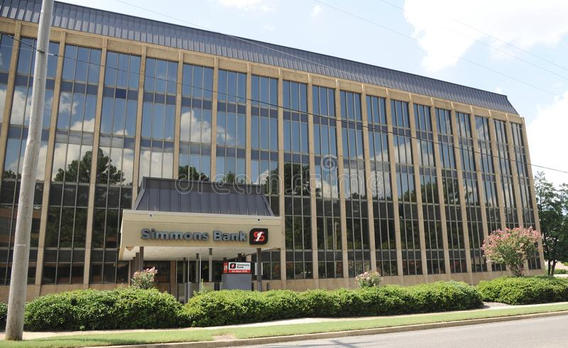 Edificio de banco de Simmons granangular imagen de archivo libre de regalías