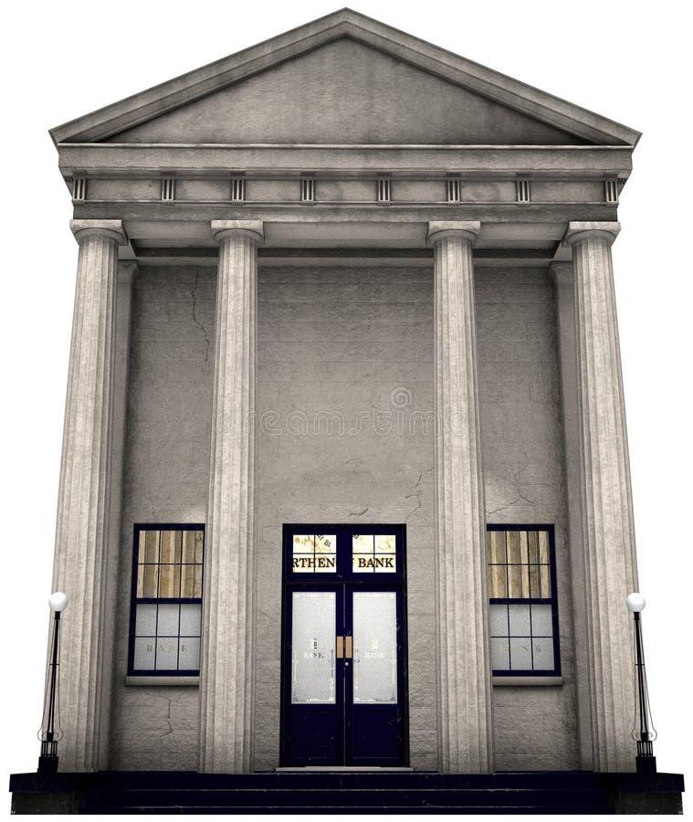 Edificio de banco, dinero, inversión, aislada