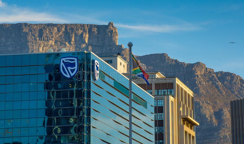 Edificio de banco estándar en Cape Town fotografía de archivo
