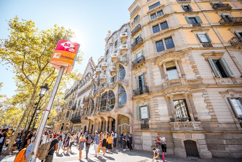 Edificio de Batllo de la casa en Barcelona foto de archivo