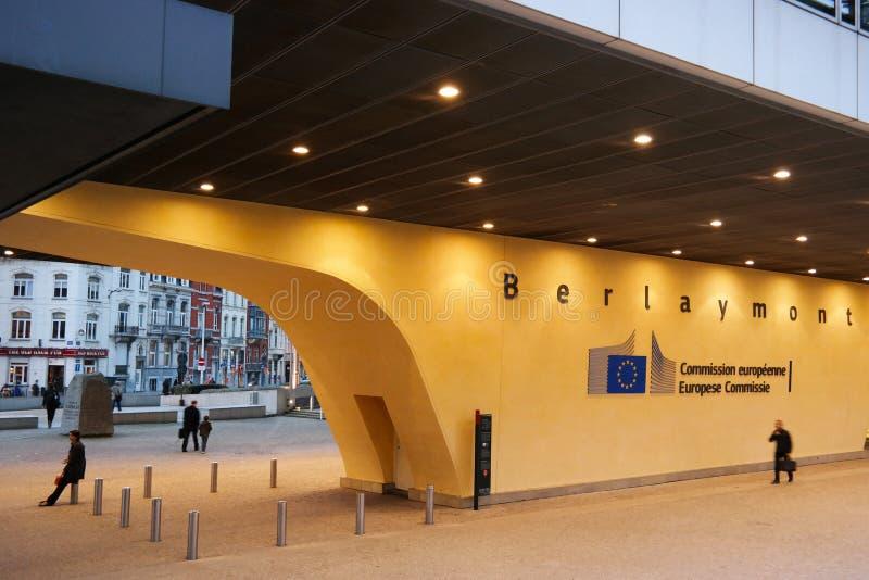 Edificio de Berlaymont imagenes de archivo