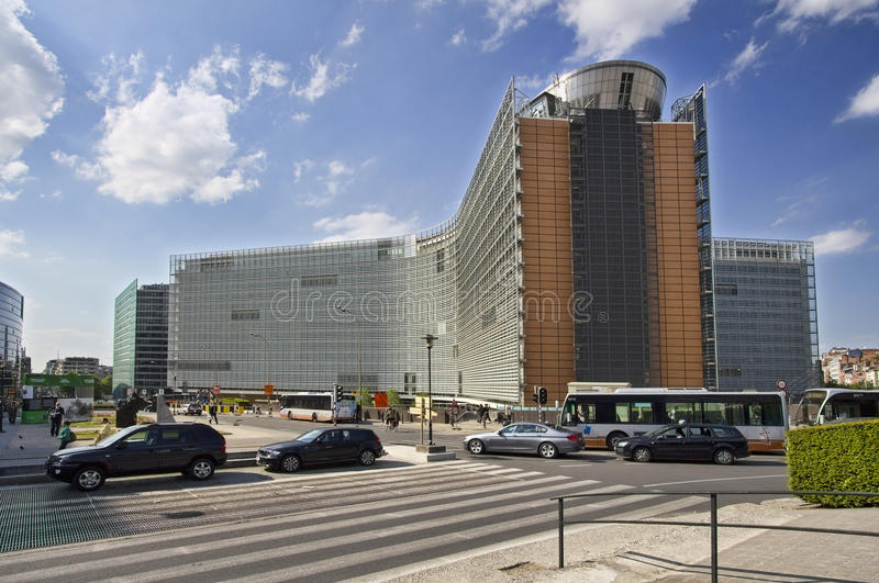 Edificio de Berlaymont en Bruselas, Bélgica fotos de archivo libres de regalías