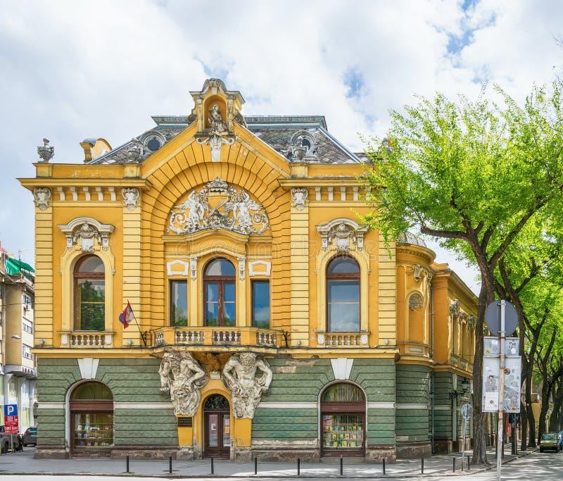 Edificio de biblioteca de la ciudad en la ciudad de Subotica, Serbia foto de archivo libre de regalías