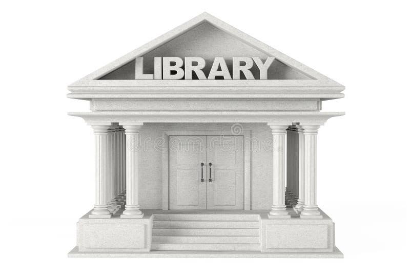 Edificio de biblioteca del primer stock de ilustración