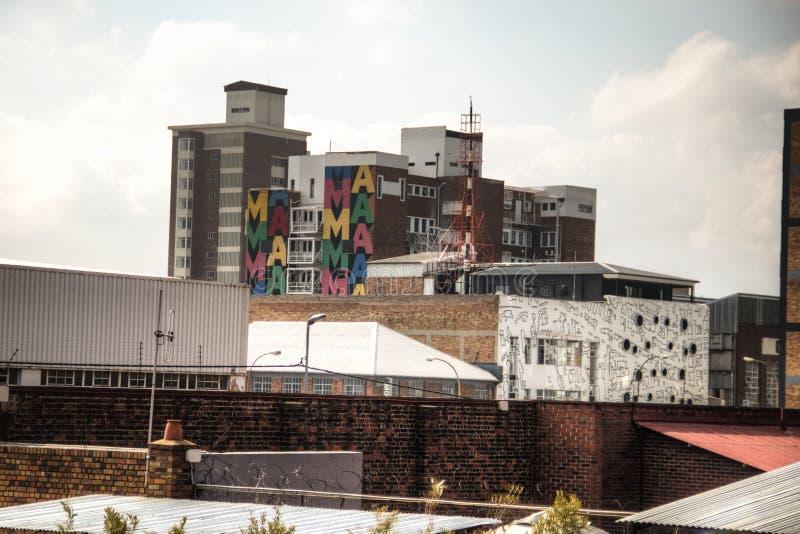 Edificio de Colourfull en Maboneng, Johannesburgo imágenes de archivo libres de regalías