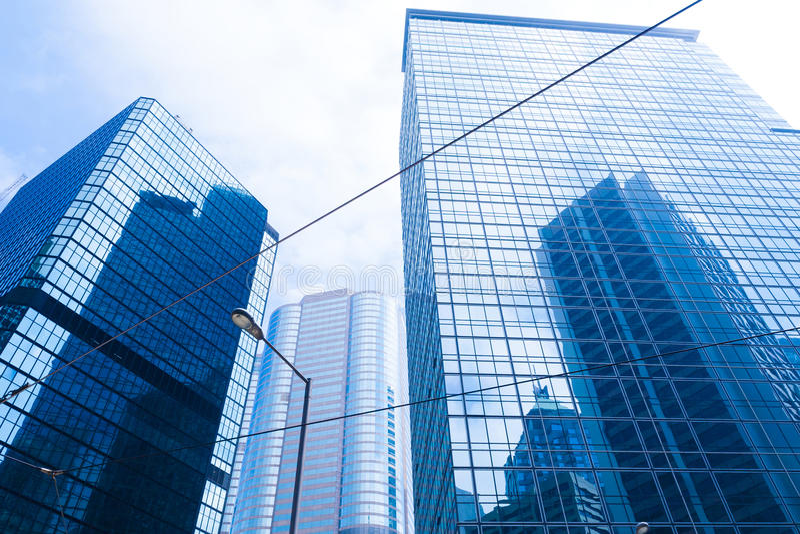Edificio de cristal en Hong-Kong imagenes de archivo