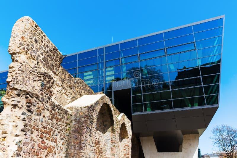 Edificio de Darmstadtium en Darmstad, Alemania fotos de archivo