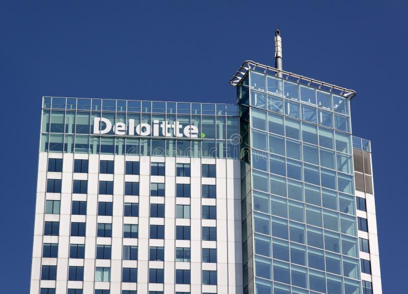 Edificio de Deloitte imagen de archivo