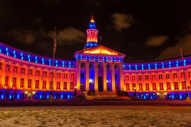 Edificio de Denver City 2013 y del condado imagenes de archivo