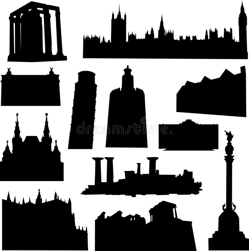 Edificio de Europa ilustración del vector