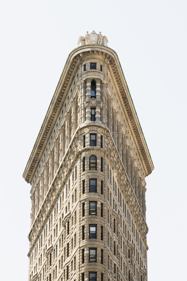 Edificio de Flatiron tirado derecho fotografía de archivo libre de regalías