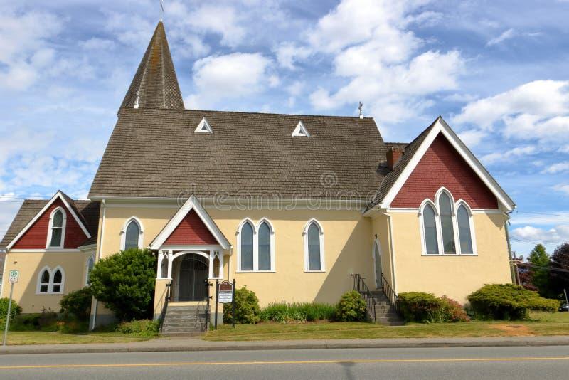 Edificio de Iglesia Anglicana en Canadá fotografía de archivo libre de regalías