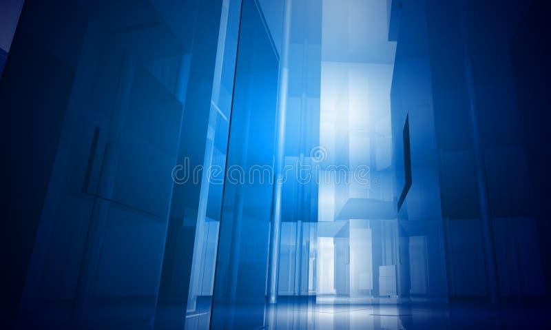 Edificio de interior. Espacio de oficina ilustración del vector