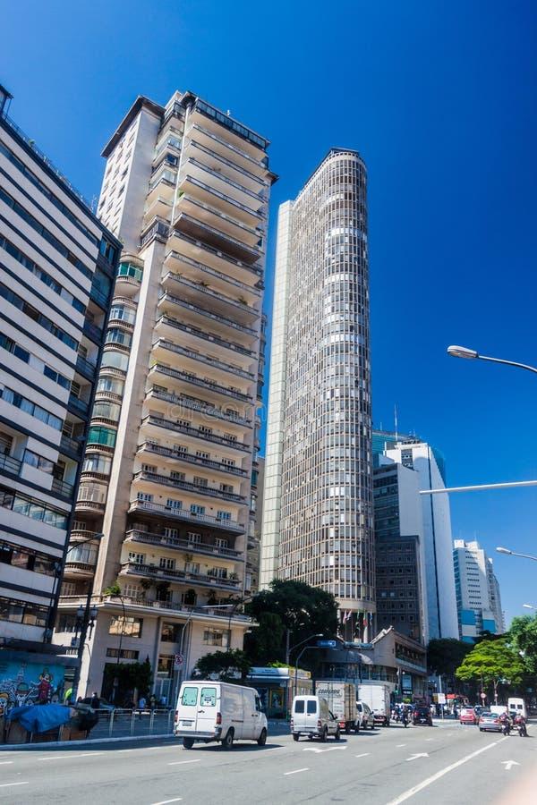 Edificio de Edificio Italia en Sao Paulo imagenes de archivo