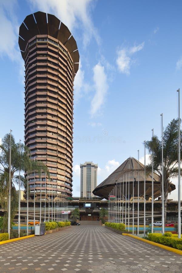 Edificio de KICC en Nairobi, Kenia fotografía de archivo libre de regalías