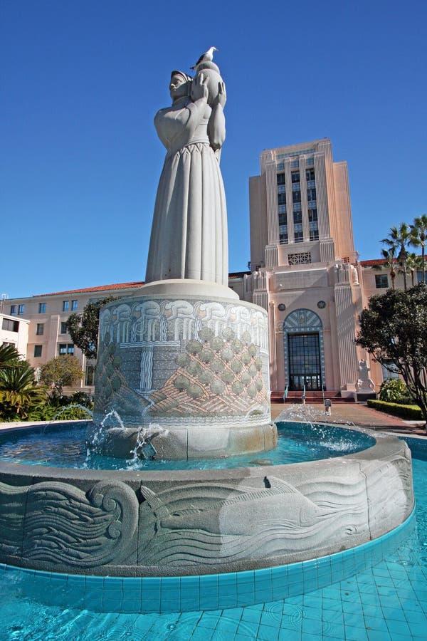 Edificio de la administración de la ciudad y del condado de San Diego imagen de archivo libre de regalías