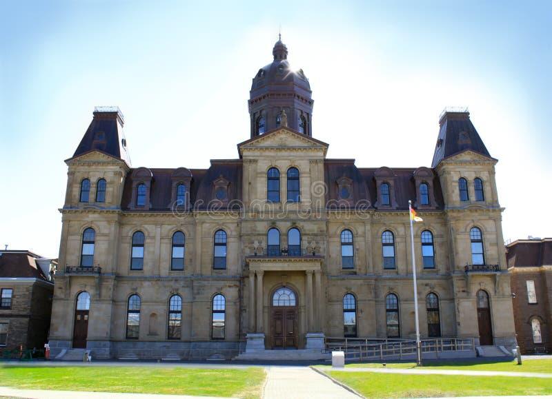 Edificio de la asamblea de Legeslative en Fredericton NOTA imágenes de archivo libres de regalías