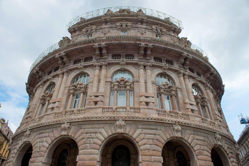 Edificio de la bolsa de acción en Génova fotografía de archivo libre de regalías