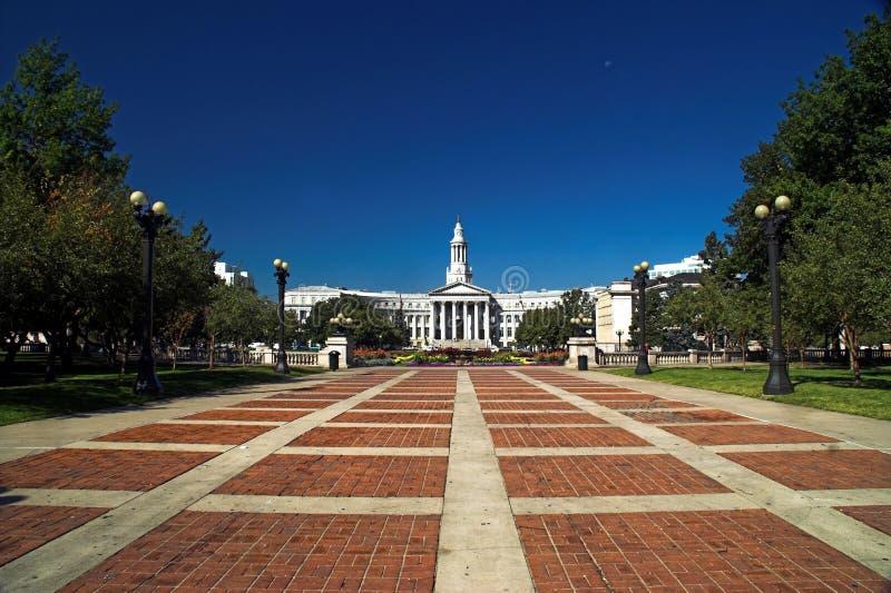 Edificio de la ciudad y del condado de Denver fotos de archivo libres de regalías