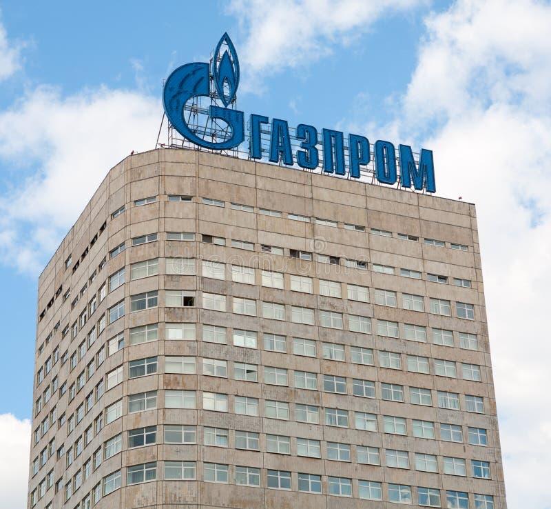 Edificio de la compañía de Gazprom imagen de archivo