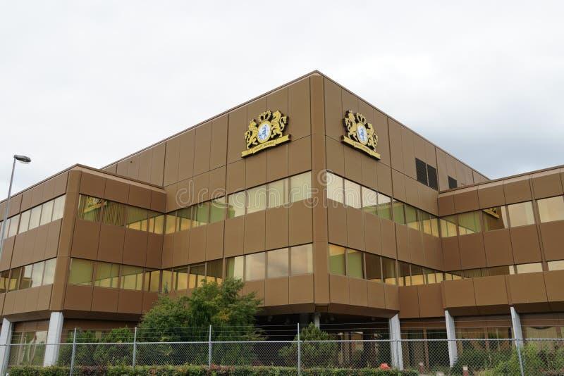 Edificio de la compañía de Philip Morris fotografía de archivo libre de regalías