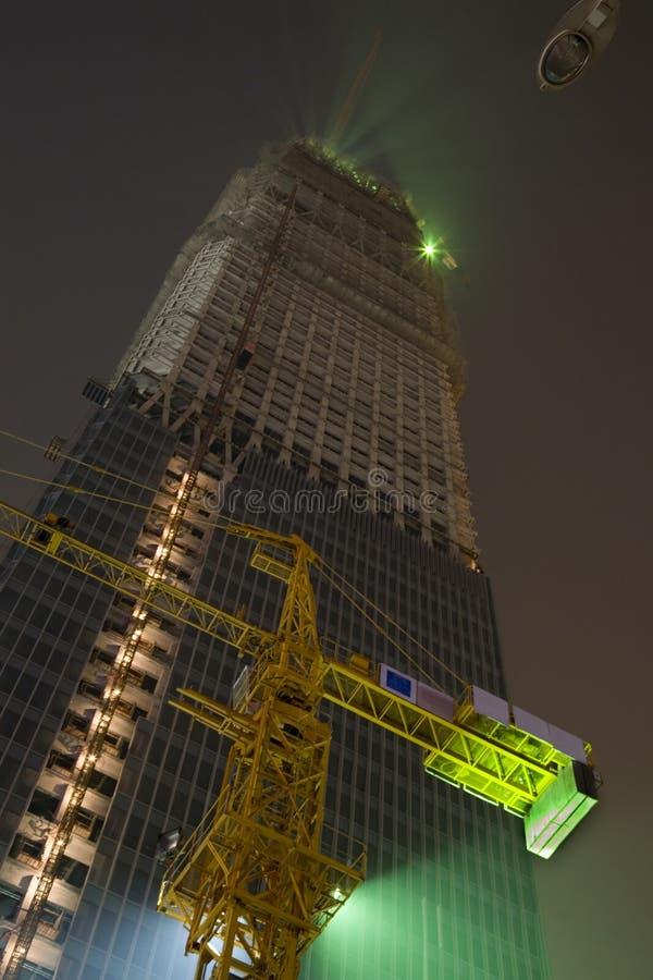 Edificio de la construcción de Pekín imagenes de archivo