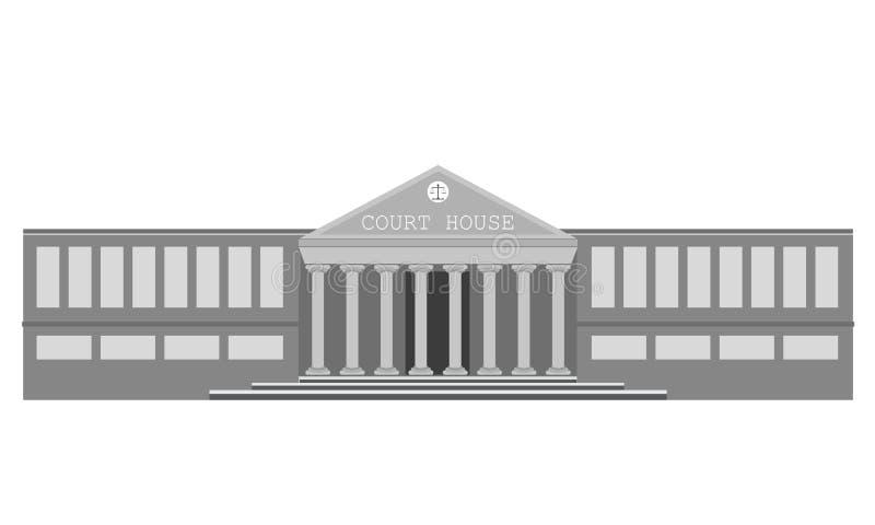 Edificio de la corte del vector ilustración del vector