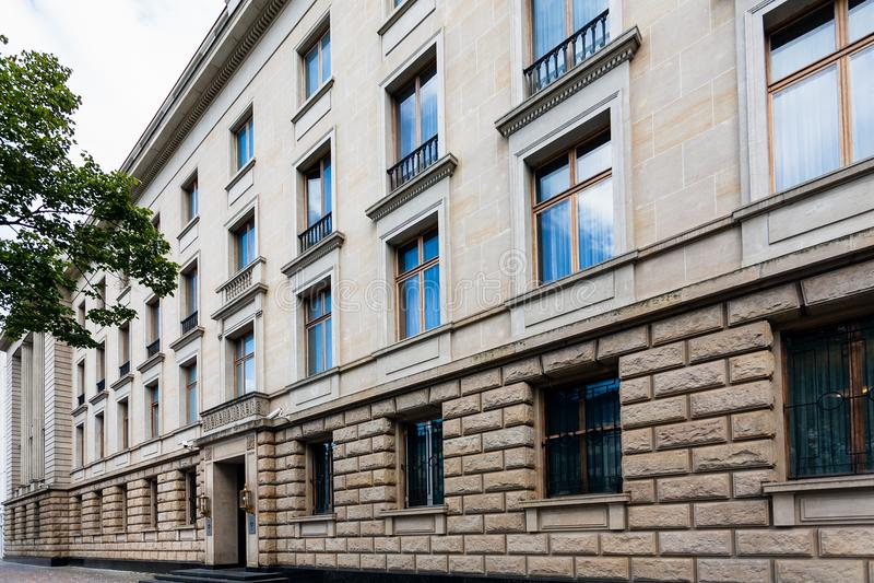 Edificio de la embajada de la Federación Rusa fotos de archivo libres de regalías