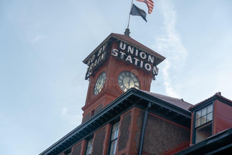 Edificio de la estación de la unión imagenes de archivo