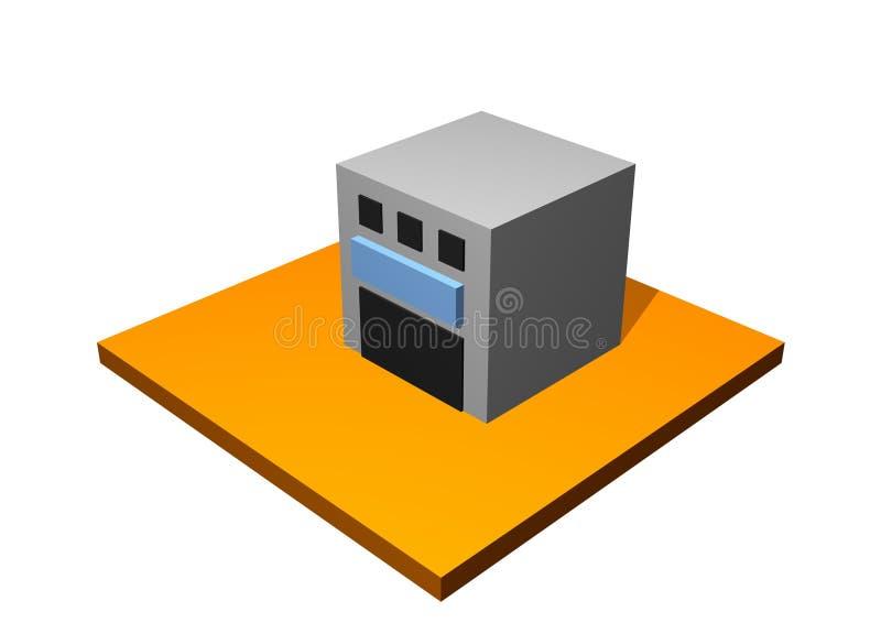 Edificio de la fábrica libre illustration