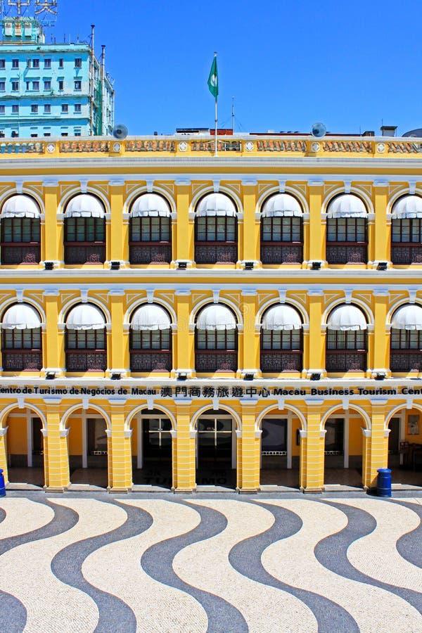 Edificio de la herencia del cuadrado de Senado, Macao, China fotografía de archivo libre de regalías