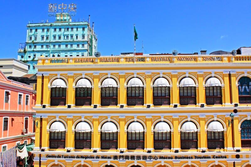 Edificio de la herencia del cuadrado de Senado, Macao, China imágenes de archivo libres de regalías